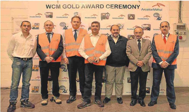 La planta de Arcelor Mittal en Pedrola, premiada por la compañía.
