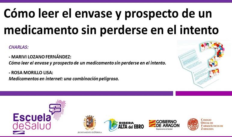Pedrola acoge dos charlas dentro del proyecto de la Escuela de Salud de Aragón