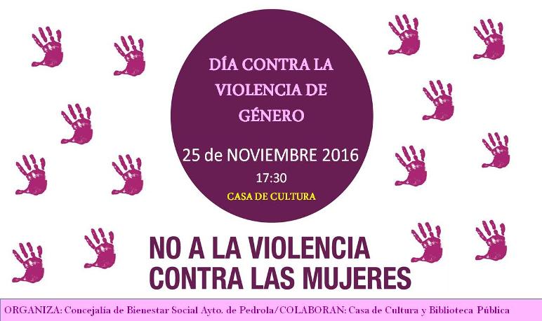 Pedrola conmemora el Día Mundial contra la Violencia de Género