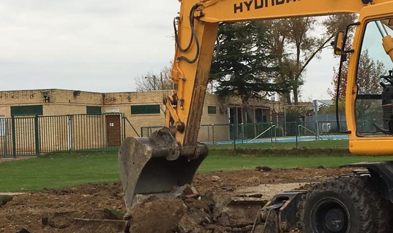 Comienzan las obras de renovación de la pista de atletismo