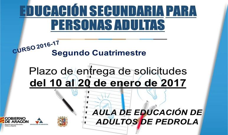 Estudiar Educación Secundaria para personas adultas