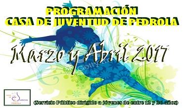 Programación de actividades de la Casa de Juventud en marzo y abril