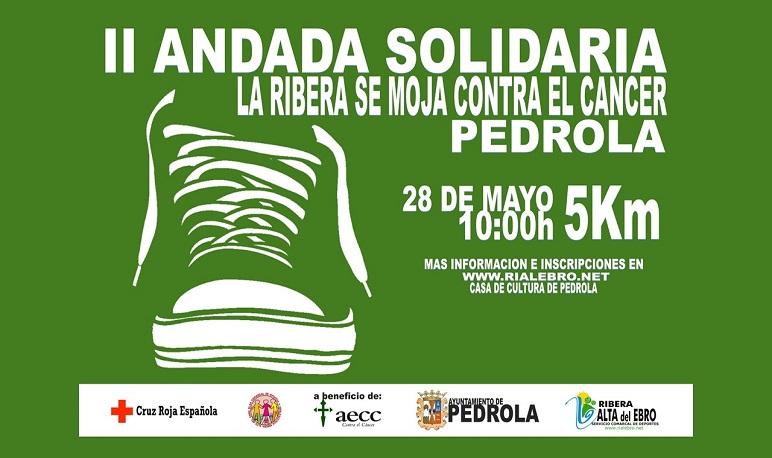 La II Andada Solidaria contra el Cáncer se celebra en Pedrola