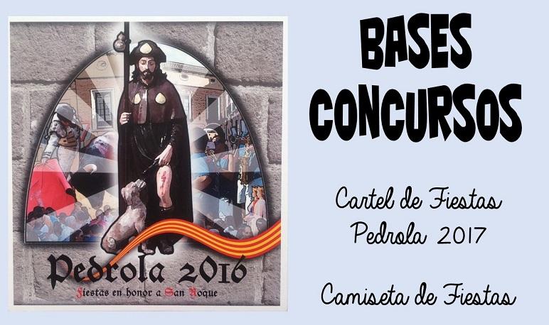 BASES CONCURSOS DE CAMISETAS Y CARTEL DE FIESTAS PEDROLA 2017