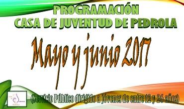 Programación de actividades de Mayo y Junio en la Casa de Juventud
