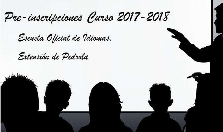 Pre-inscripción para la Escuela Oficial de Idiomas en Pedrola para el curso 17-18