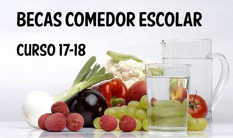 Ayudas de Comedor Escolar Curso 2017/2018