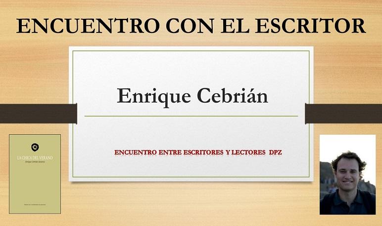 Encuentro con el escritor Enrique Cebrián en la Biblioteca