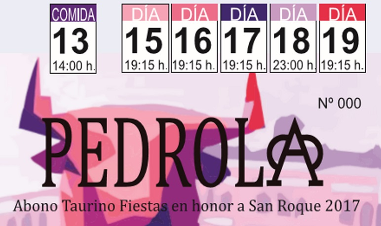 Venta de Abonos y Tickets de Fiestas de San Roque 2017