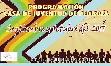 Programación de actividades en la Casa de Juventud durante septiembre y octubre