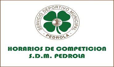 Horarios de competición SDM Pedrola