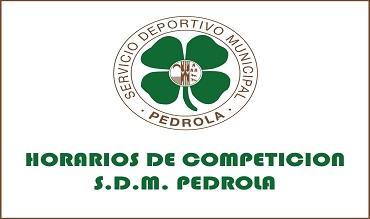 Horarios de competición Deporte Pedrola