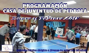 Programación de actividades en enero y febrero en la Casa de Juventud