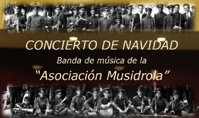 """La banda de música de la Asociación """"Musidrola"""" celebra el tradicional Concierto de Navidad"""