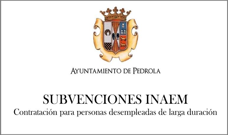 Subvención concedida por el INAEM para la contratación de personas paradas de larga duración