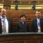 Yago Herrero representó a Pedrola en el Congreso de los Diputados
