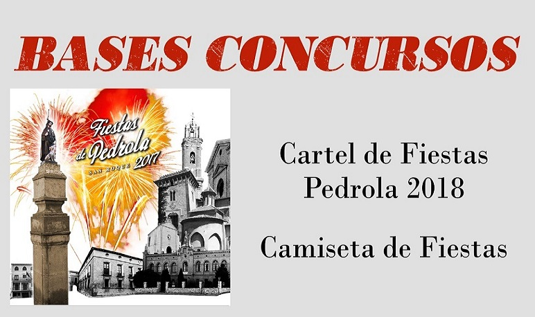 Bases del Concurso de Diseño de Camiseta y Cartel de Fiestas de Pedrola 2018
