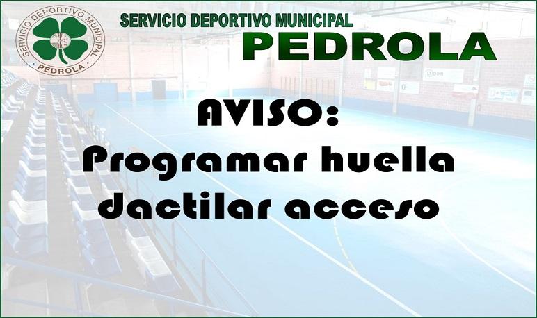 Ampliación horario para programación de la huella dactilar para el acceso a las instalaciones deportivas y piscina.
