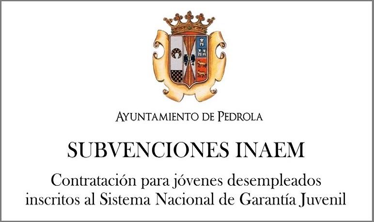 Subvención concedida por el INAEM para la contratación de personas jóvenes desempleadas