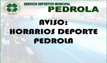 Horarios Deporte Pedrola 2018-2019