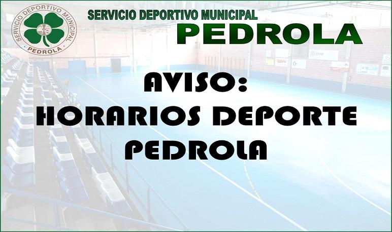 Horarios Provisionales Deporte Pedrola 2019-2020