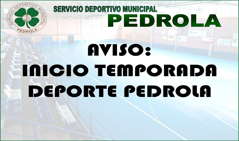 Novedades en inicio actividades Deporte Pedrola