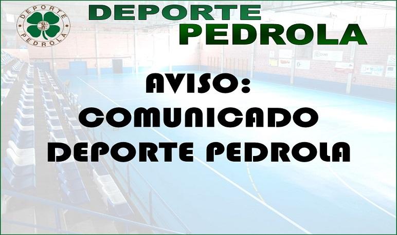 Comunicado Deporte Pedrola