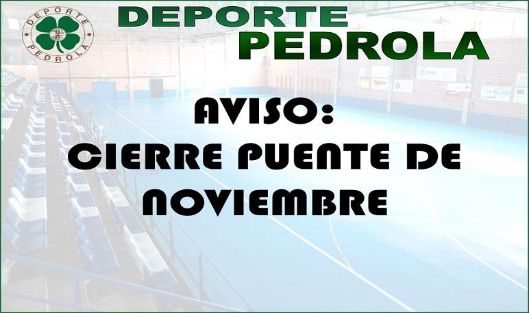 Cierre Puente de Noviembre Deporte Pedrola