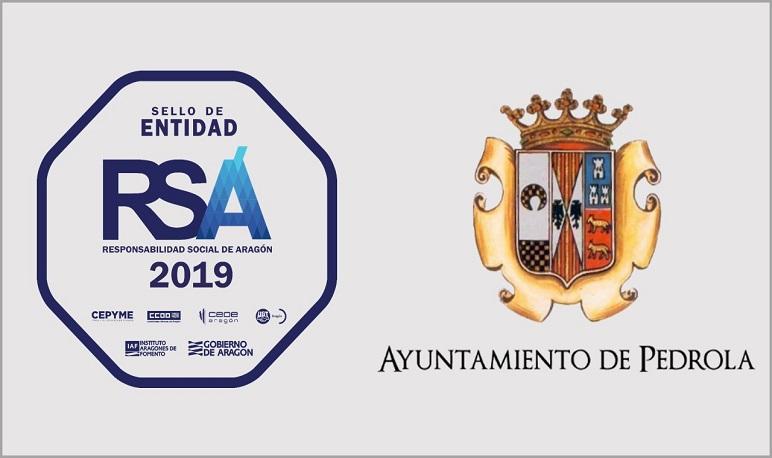 El Ayuntamiento de Pedrola recibe el Sello de Responsabilidad Social de Aragón (RSA) 2019