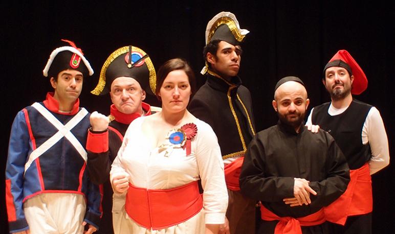 Escuela Cómica Suicida cierra el IV Encuentro de Clubes de Lectura con «Agustina de Aragón, la mujer cañón»