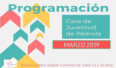 Programación de actividades en el mes de marzo en la Casa de Juventud de Pedrola