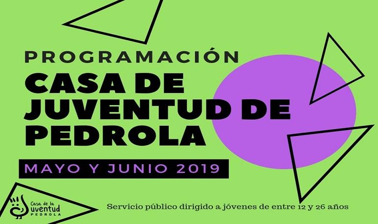 Programación de actividades en mayo y junio en la Casa de Juventud