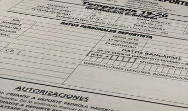 Matrículas Deporte Pedrola temporada 2019-2020