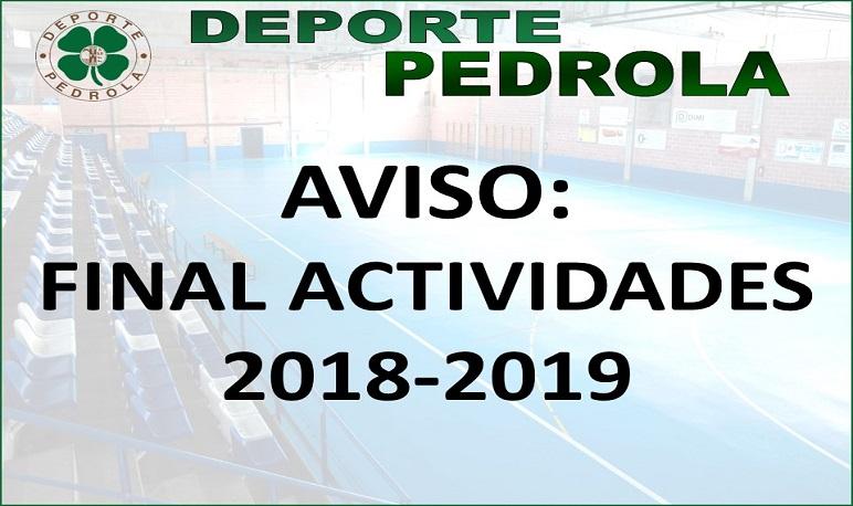 Final de las actividades temporada 2018-2019 Deporte Pedrola