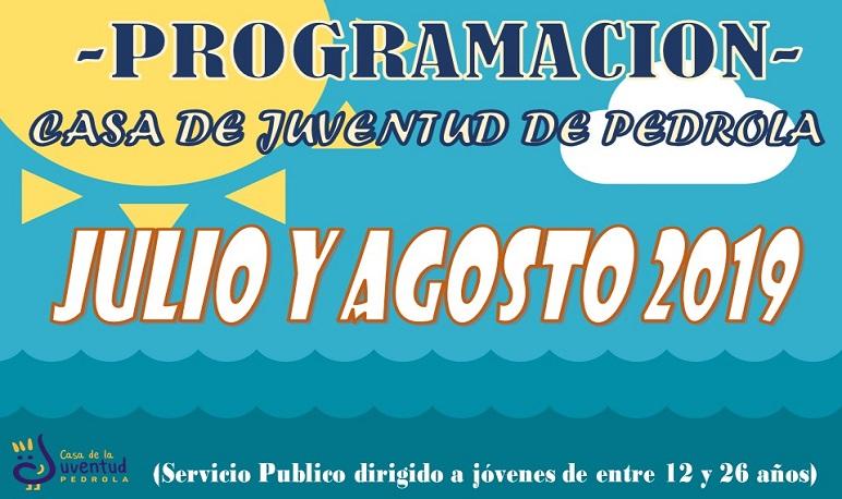 Programación de actividades en la Casa de Juventud en julio y agosto