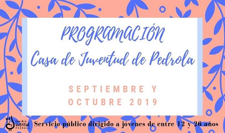 Programación de actividades en septiembre y octubre en la Casa de Juventud