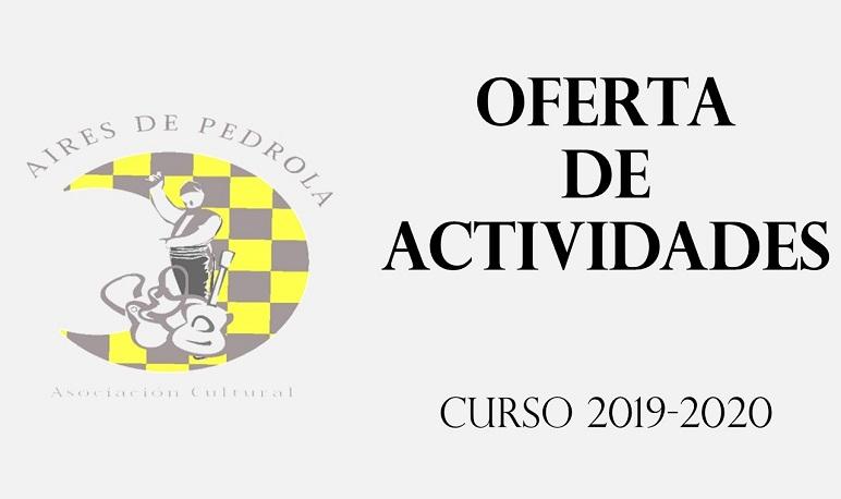 Oferta de actividades de la Asociación Aires de Pedrola para el curso 19-20