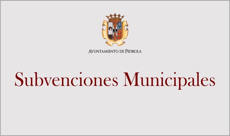 Convocatoria de subvenciones dirigidas a asociaciones y entidades sin ánimo de lucro de Pedrola