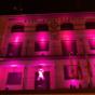 Pedrola se ilumina de rosa por la lucha contra el cáncer de mama