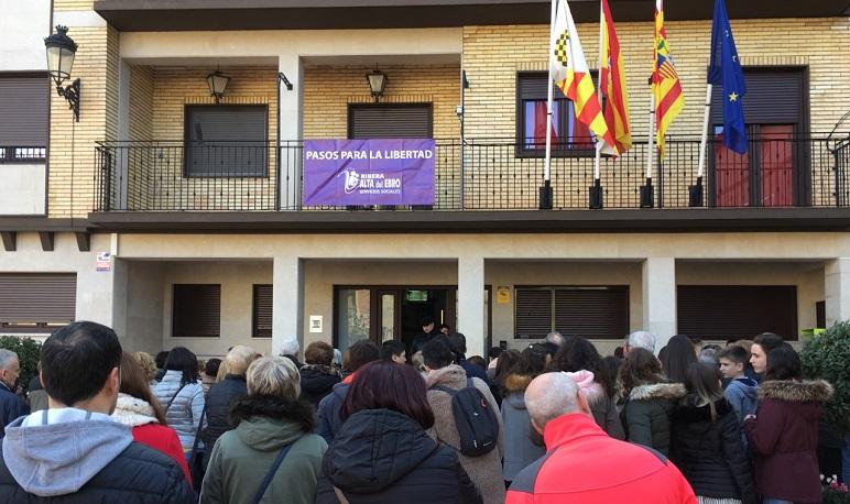 Pedrola se suma al acto de la Comarca Ribera Alta del Ebro contra la Violencia de Género