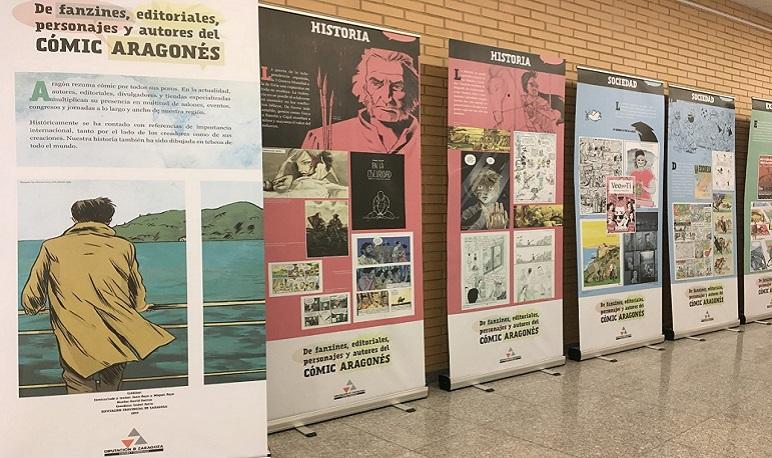 El Cómic aragonés llega en exposición a la Casa de Cultura