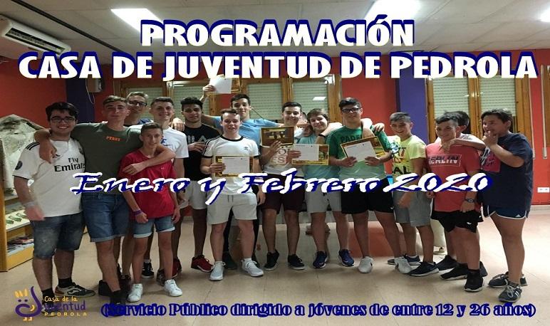 Programación de actividades en la Casa de Juventud durante enero y febrero