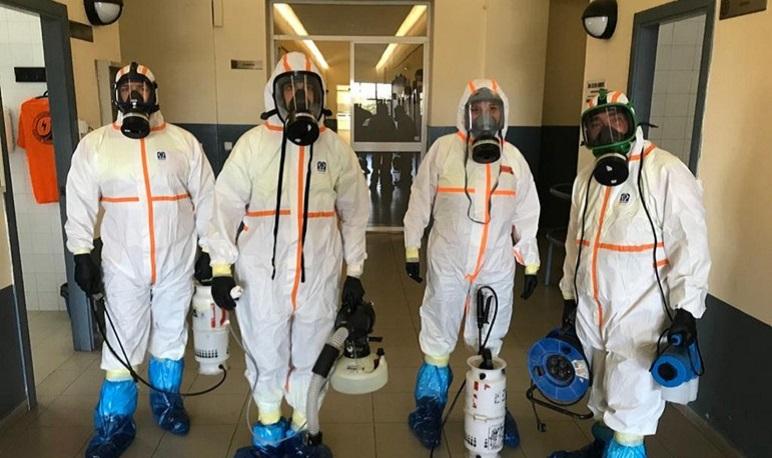 El Ayuntamiento de Pedrola promueve la desinfección de los comercios locales abiertos durante la alarma sanitaria