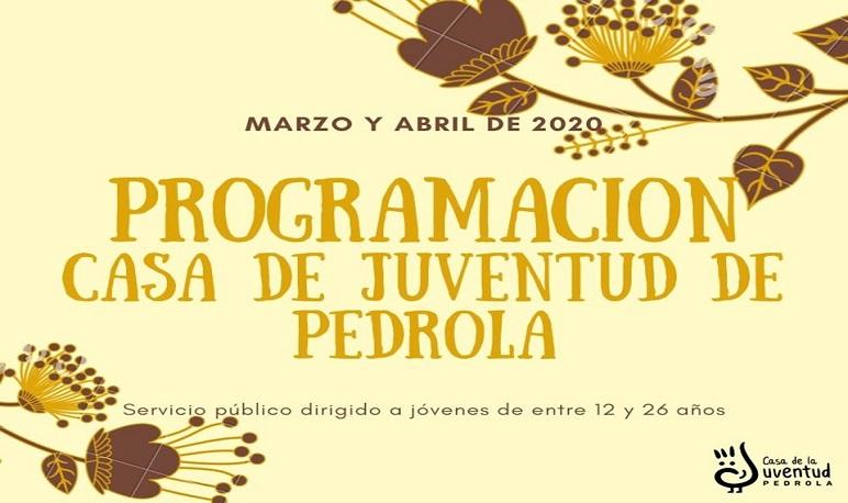 Programación de actividades en marzo y abril en la Casa de Juventud de Pedrola