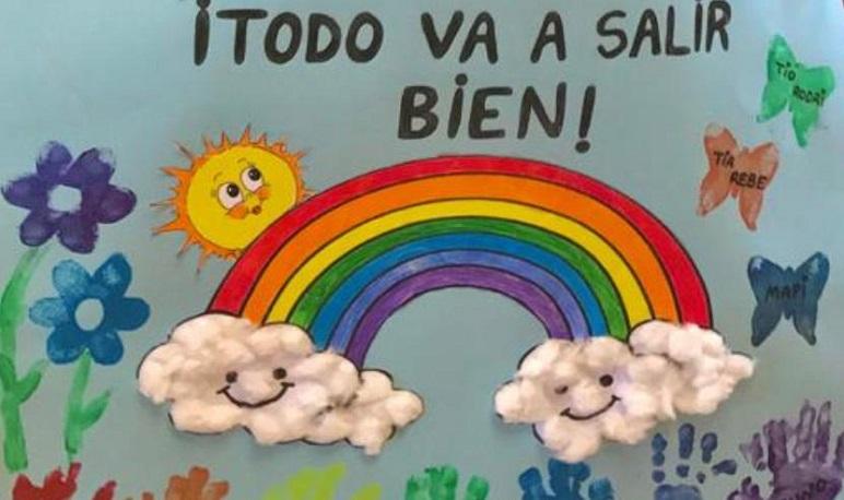Los niños y niñas de Pedrola mandan un mensaje: «Todo irá bien»