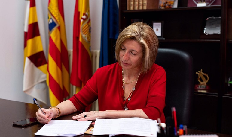 La alcaldesa de Pedrola agradece al municipio su colaboración durante el estado de alarma