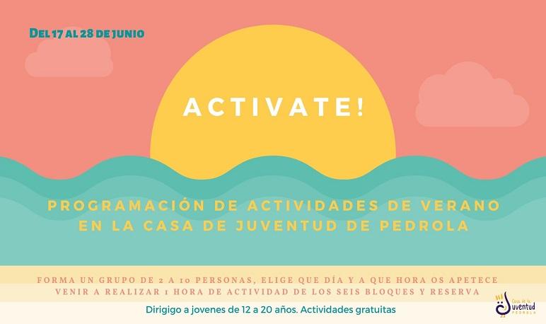 """Nueva programación de las actividades de verano """"ACTIVATE!"""""""