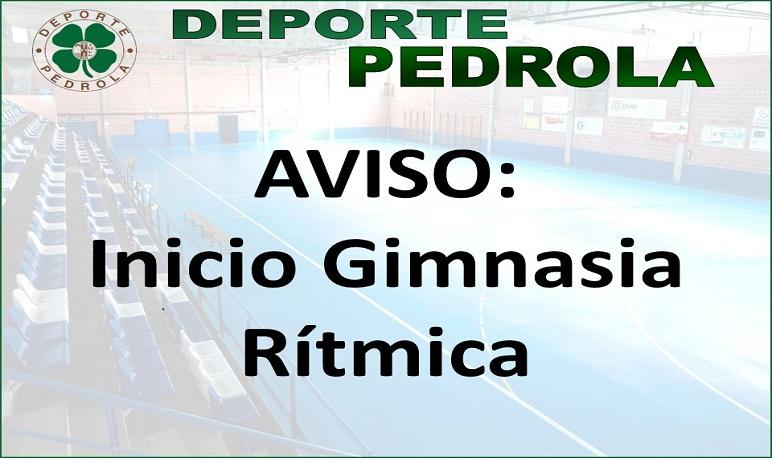 Inicio actividad deportiva: Gimnasia Rítmica.