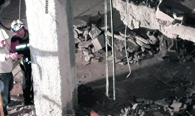 El Pabellón 81 de Pedrola es declarado en estado de ruina tras las lluvias de esta noche