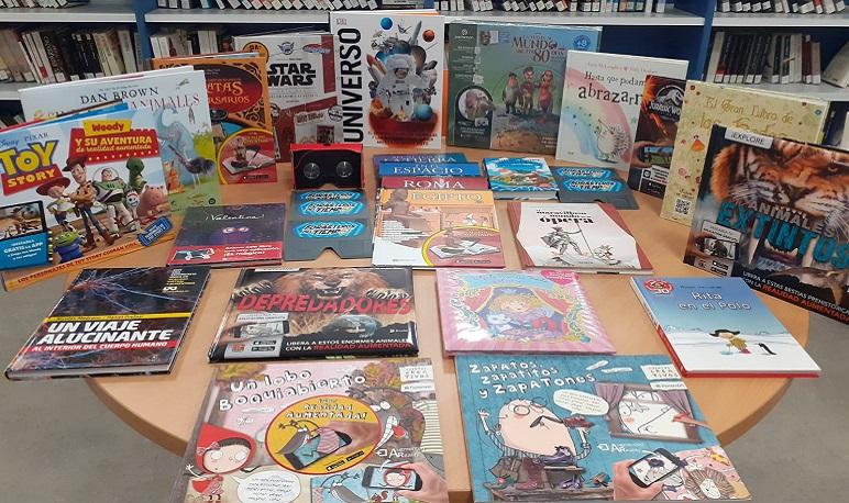 La Biblioteca de Pedrola incorpora una nueva sección de libros de Realidad Aumentada